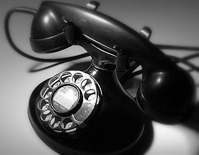 black-and-white-phone